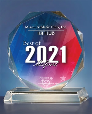 """2021 Awarded """"Best in Milford"""" for Best Health Club by the Milford Award Program"""