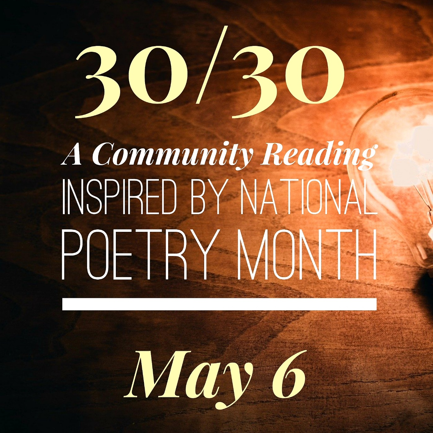 30/30: A Community Reading Image