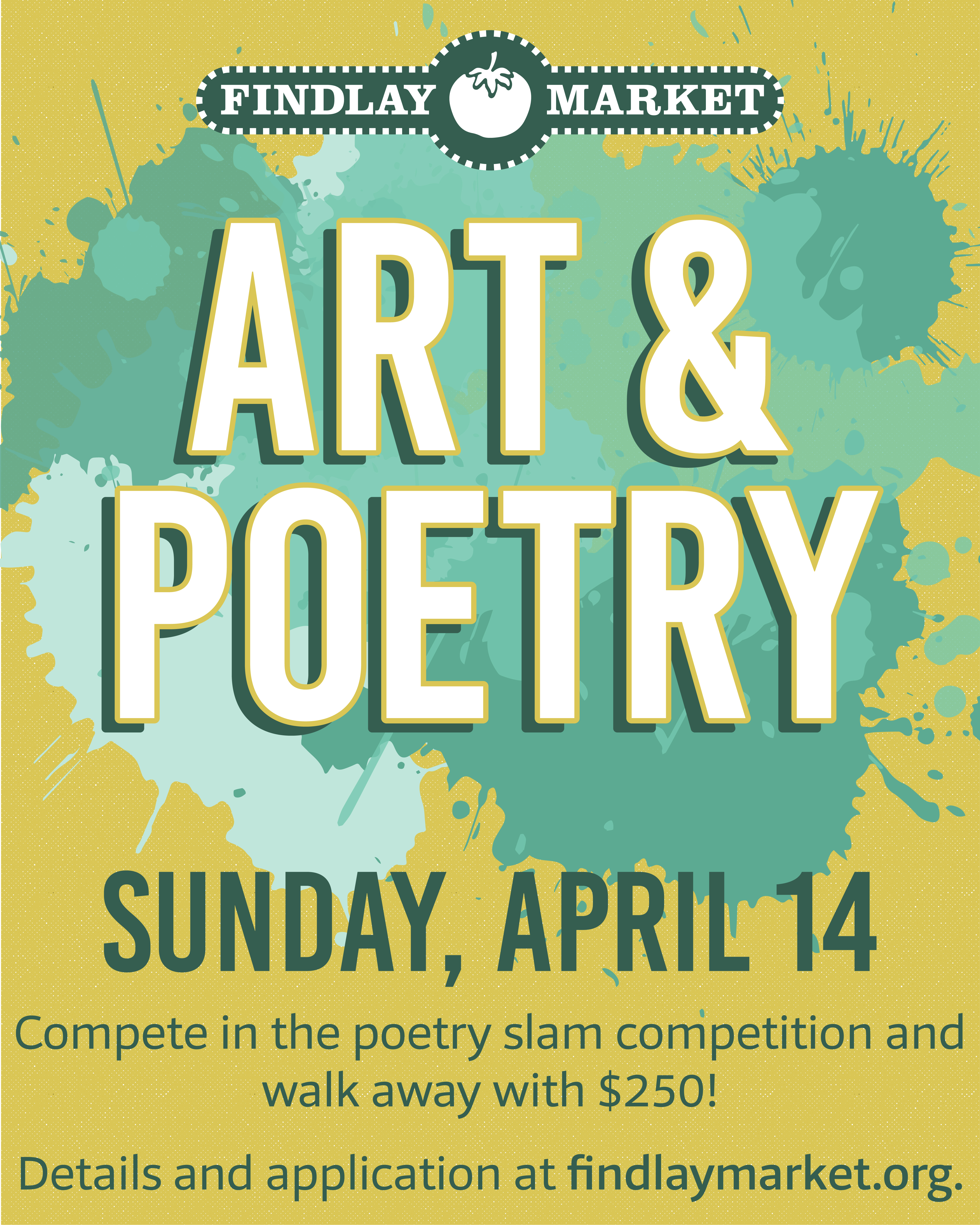 Findlay Market Art and Poetry Flyer