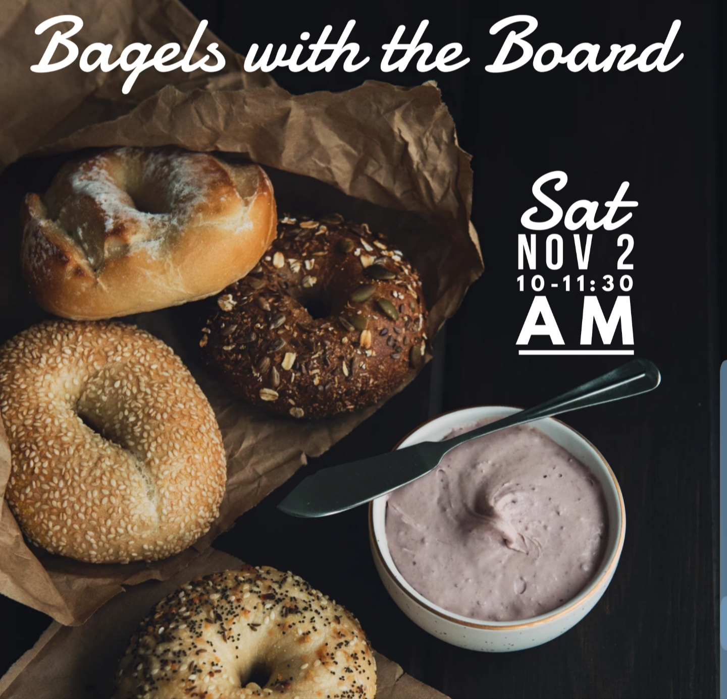 Bagels with the Board Flyer Photo