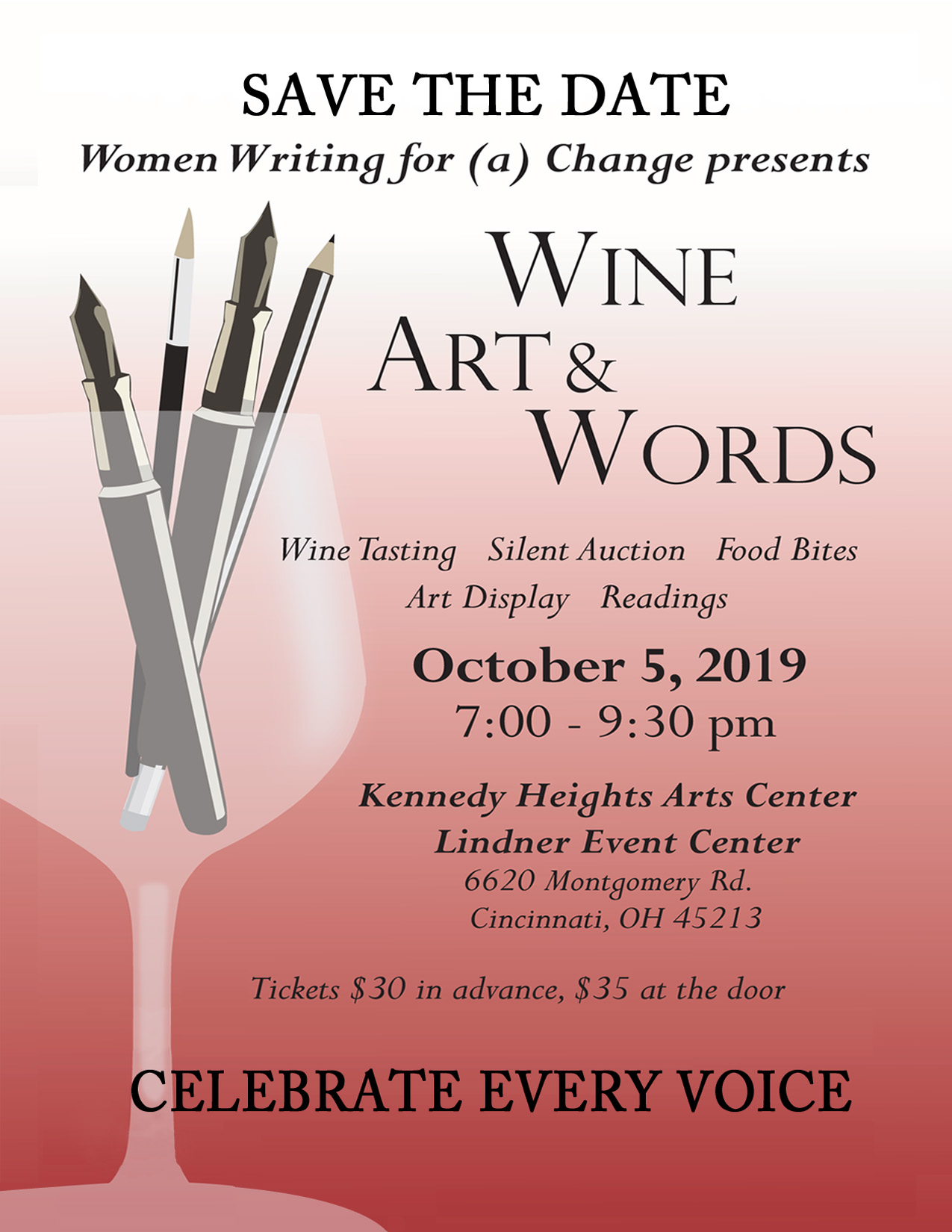 Wine and Art Flyer