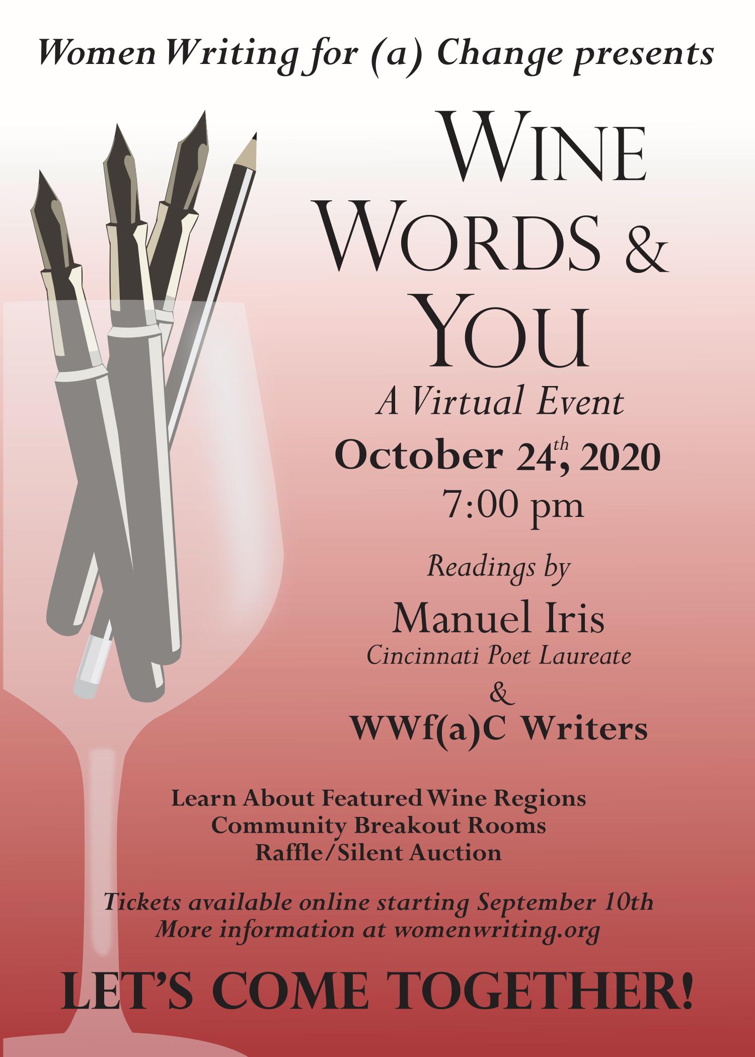 Wine, Words & You Invitation Image